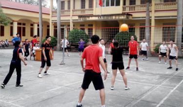 Môn bóng chuyền hơi phát triển mạnh ở cơ quan, đơn vị, xã, thị trấn, thôn bản và khu phố ở huyện Trấn Yên.