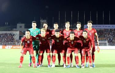 Các cầu thủ U22 Việt Nam.