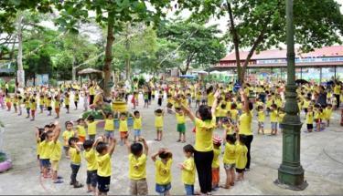 """Trường Mầm non thị trấn Mậu A - đơn vị tiêu biểu trong phong trào xây dựng """"Trường học thân thiện, học sinh tích cực""""."""