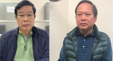 Bị can Nguyễn Bắc Son (trái) và Trương Minh Tuấn.