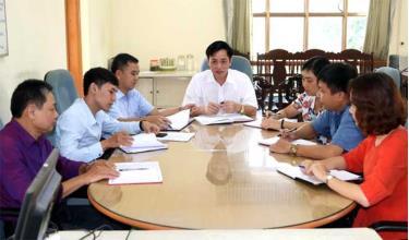 Thủ trưởng Cơ quan Kiểm tra - Thanh tra thành phố giao ban nắm bắt tiến độ thực hiện nhiệm vụ.