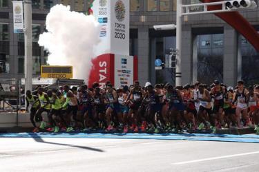Các vận động viên tham gia Tokyo Marathon 2020. Ảnh minh họa