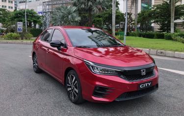 Honda City mới bản RS lộ diện tại Sài Gòn.