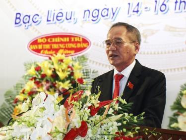Ông Lữ Văn Hùng - Bí thư Tỉnh ủy Bạc Liêu nhiệm kỳ 2020 - 2025