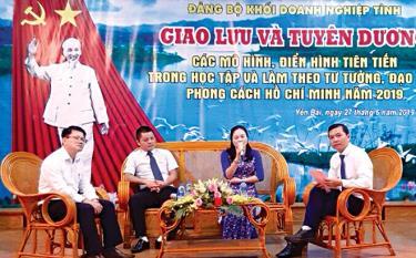 Đảng ủy Khối Cơ quan và Doanh nghiệp tỉnh tổ chức giao lưu và tuyên dương các mô hình, điển hình tiên tiến trong học tập và làm theo tư tưởng, đạo đức, phong cách Hồ Chí Minh năm 2019.