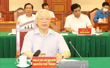 Tổng Bí thư, Chủ tịch nước Nguyễn Phú Trọng chủ trì phiên họp Tiểu ban Văn kiện Đại hội XIII của Đảng chiều 11-9-2020.