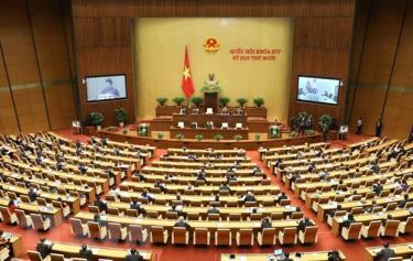 Quang cảnh phiên khai mạc Kỳ họp thứ mười, Quốc hội khóa XIV.