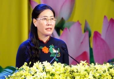 Bà Bùi Thị Quỳnh Vân - Bí thư Tỉnh ủy Quảng Ngãi