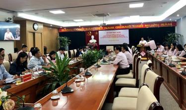 Hội nghị trực tuyến tới 63 điểm cầu tỉnh, thành triển khai nghiệp vụ cho người sử dụng lao động vay để trả lương ngừng việc đối với người lao động theo Nghị quyết 154.