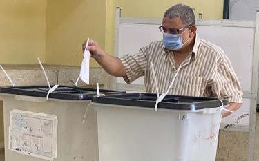 Cử tri Ai Cập đi bỏ phiếu.