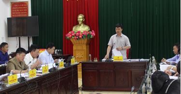Đồng chí Nguyễn Minh Toàn - Chủ nhiệm Ủy ban Kiểm tra Tỉnh ủy phát biểu tại buổi làm việc.