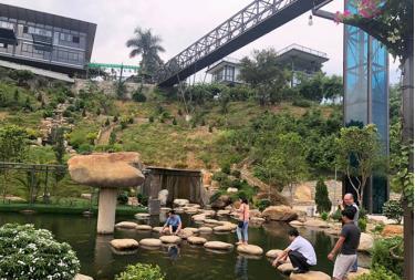 Khu du lịch nghỉ dưỡng Dragon thị xã Nghĩa Lộ - một trong những dự án được các doanh nghiệp đầu tư. (Ảnh: Thủy Thanh)