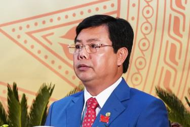 Ông Nguyễn Tiến Hải tại đại hội Đảng bộ tỉnh Cà Mau.