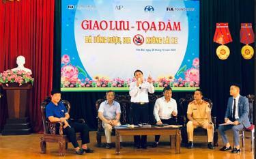 Các đại biểu tham dự tọa đàm thông tin, giải đáp về Nghị định 100/2019/NĐ-CP quy định mức xử phạt hành chính trong lĩnh vực giao thông đường bộ và đường sắt.