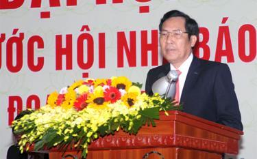 Đồng chí Thuận Hữu, Ủy viên Ban Chấp hành Trung ương Đảng, Tổng Biên tập Báo Nhân dân, Chủ tịch Hội Nhà báo Khai mạc Đại hội.