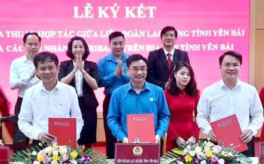 Liên đoàn lao động tỉnh và các chi nhánh Agribank trên địa bàn tỉnh ký kết thỏa thuận hợp tác
