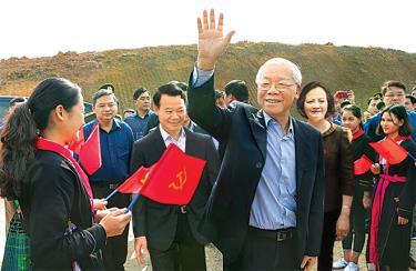 Đảng bộ, chính quyền và nhân dân các dân tộc tỉnh Yên Bái vui mừng đón Tổng Bí thư, Chủ tịch nước Nguyễn Phú Trọng đến dự Lễ phát động