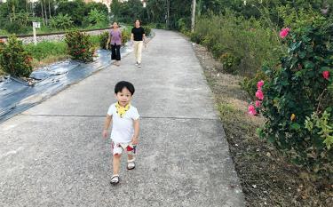 Xã nông thôn mới kiểu mẫu Tuy Lộc, thành phố Yên Bái với những tuyến đường hoa rực rỡ.