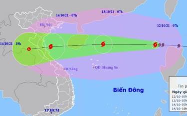 Dự báo vị trí và đường đi của bão KOMPASU