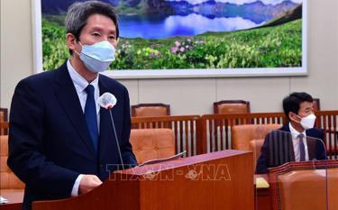"""Bộ trưởng Bộ Thống nhất Hàn Quốc Lee In-young ngày 27/6 cam kết sẽ hành động """"nhanh chóng hơn"""" để nối lại đối thoại với Triều Tiên."""