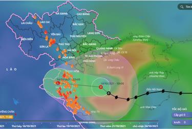 Áp thấp nhiệt đới đang suy yếu trước khi đi vào đất liền Bắc Trung bộ.