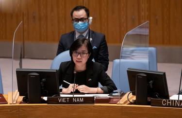 Phó trưởng Phái đoàn Nguyễn Phương Trà phát biểu tại thảo luận của HĐBA về Yemen.