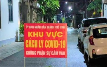 Phong tỏ khu vực nhà bệnh nhân ở phường Hà Huy Tập, TP Vinh.