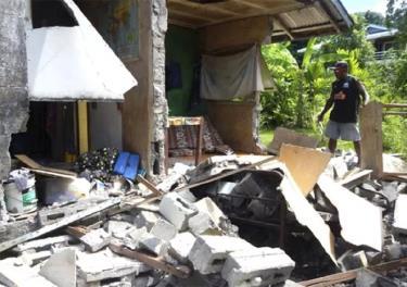 Động đất gây thiệt hại tại Kirakira, quần đảo Solomon ngày 9/12/2016. (Ảnh minh họa)