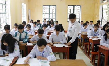 Một tiết học của thầy và trò Trường THPT Chu Văn An.