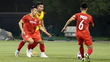 U23 Việt Nam đang tích cực tập luyện chuẩn bị cho vòng loại U23 châu Á 2022