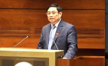 Thủ tướng Phạm Minh Chính báo cáo trước Quốc hội, đồng bào và cử tri cả nước tại Kỳ họp thứ 2, Quốc hội khóa XV.