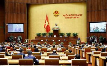 Hình ảnh khai mạc Kỳ họp 2, Quốc hội khoá XV vào sáng 20.10 tại Hội trường Diên Hồng.