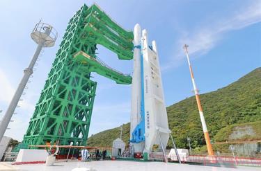 Tên lửa Nuri được đặt tại Trung tâm vũ trụ Naro ở Goheung, tỉnh South Jeolla.