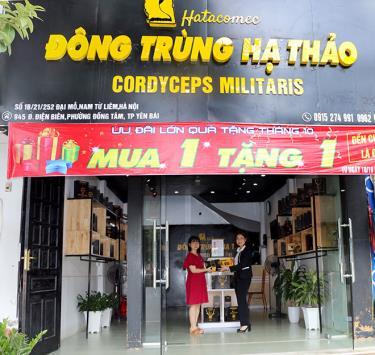 Cửa hàng bán Đông trùng hạ thảo tại số 945, đường Điện Biên, phường Đồng Tâm, thành phố Yên Bái - địa chỉ uy tín của khách hàng.