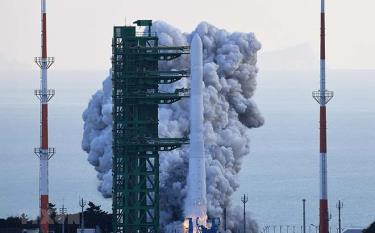 Tên lửa Nuri được phóng từ Trung tâm vũ trụ Naro ở thị trấn ven biển Goheung, miền Nam Hàn Quốc ngày 21/10/2021.