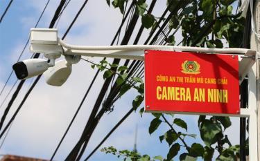 Camera an ninh lắp đặt tại tổ 5, thị trấn Mù Cang Chải, huyện Mù Cang Chải.