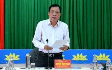 Lãnh đạo Sở Nông nghiệp và Phát triển nông thôn tỉnh Yên Bái phát biểu và chủ trì Hội nghị.