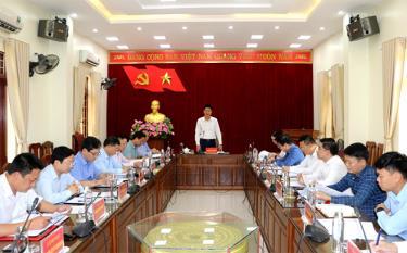 Đồng chí Nguyễn Thế Phước phát biểu kết luận buổi làm việc.