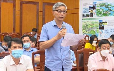 Cử tri thành phố Yên Bái phản ánh tâm tư, nguyện vọng tại một cuộc tiếp xúc cử tri.