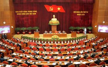 Các đại biểu dự Hội nghị lần thứ 4 Ban Chấp hành Trung ương Đảng khóa XIII.
