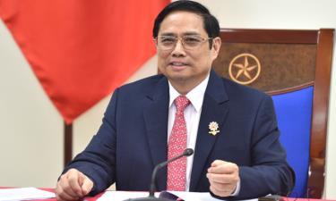 Thủ tướng Phạm Minh Chính trong cuộc điện đàm với Tổng thống Chile tối nay.