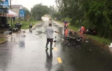 Nơi xảy ra vụ tai nạn giao thông, khiến 3 người tử vong.