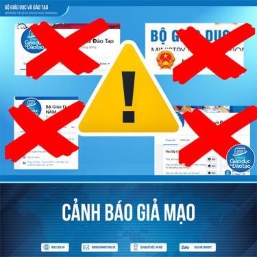 Nhiều trang fanpage mạo danh Bộ GD-ĐT.
