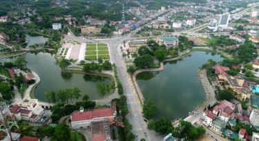 Khu trung tâm thành phố Yên Bái. Ảnh: Thanh Miền