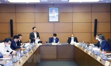 Đại biểu Quốc hội tỉnh Quảng Bình Nguyễn Mạnh Cường phát biểu ý kiến.