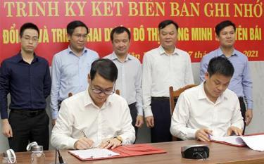 Văn phòng UBND tỉnh ký kết biên bản ghi nhớ với Viện Công nghiệp phần mềm và Nội dung số Việt Nam về việc hỗ trợ chuyển đổi số và triển khai Dự án Đô thị thông minh tỉnh Yên Bái.