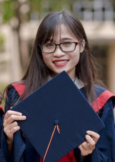 Trang tốt nghiệp ngành Toán học với 3.75/4 điểm. Ảnh: Nhân vật cung cấp