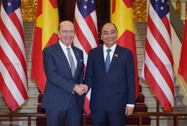 Thủ tướng Nguyễn Xuân Phúc và Bộ trưởng Thương mại Hoa Kỳ Wilbur Ross
