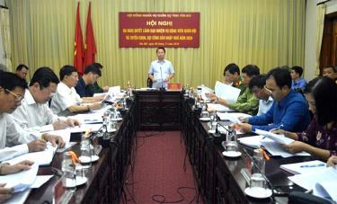 Đồng chí Đỗ Đức Duy - Phó Bí thư Tỉnh ủy, Chủ tịch UBND tỉnh, Chủ tịch Hội đồng Nghĩa vụ quân sự tỉnh kết luận Hội nghị.