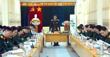 Thiếu tướng Phạm Hồng Chương, Tư lệnh Quân khu 2 kết luận kiểm tra tại huyện Văn Chấn.